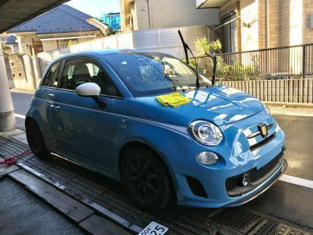アバルト 洗車
